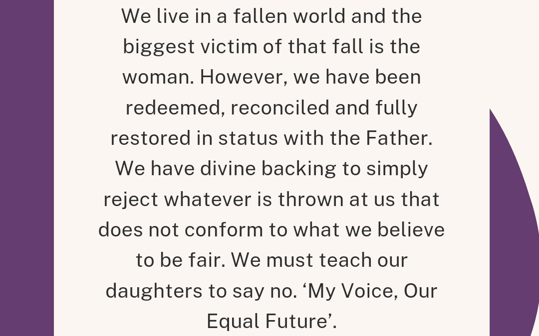 My Voice, Our Equal Future